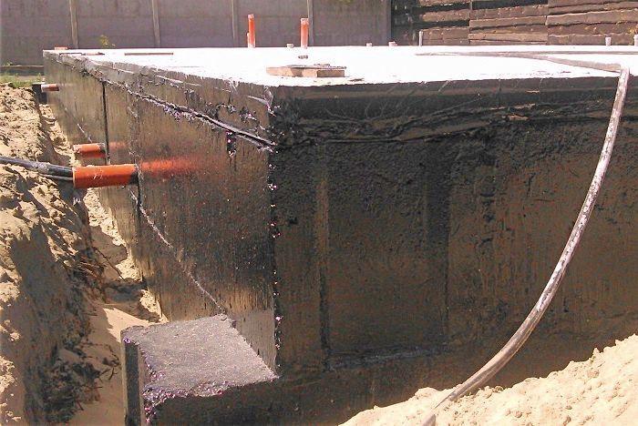 Защита фундамента гидрофобизаторами