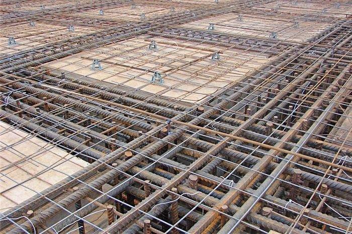Укрепление монолитных перекрытий стальной арматурой